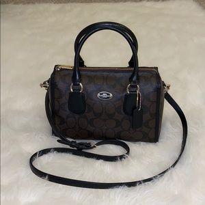 Coach mini shoulder strap duffel bag